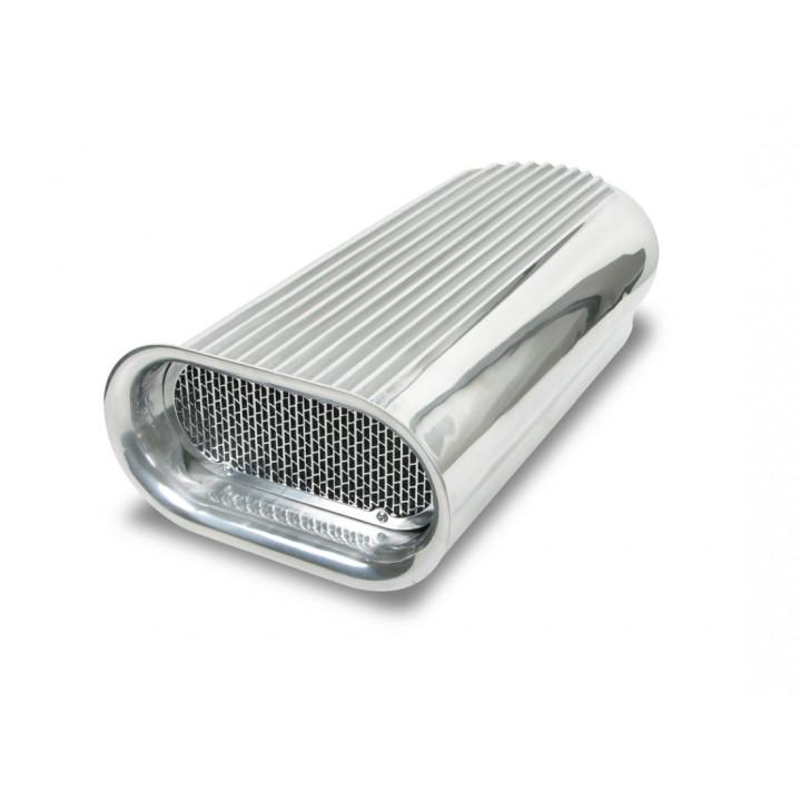 Weiand 7221 - Air Scoop - Hilborn - 2x4 - (Polished Cast Aluminum)