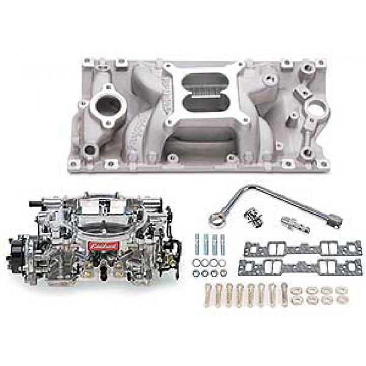 Edelbrock 2029 - Performer RPM Air-Gap Intake Manifold and Carburetor Kits
