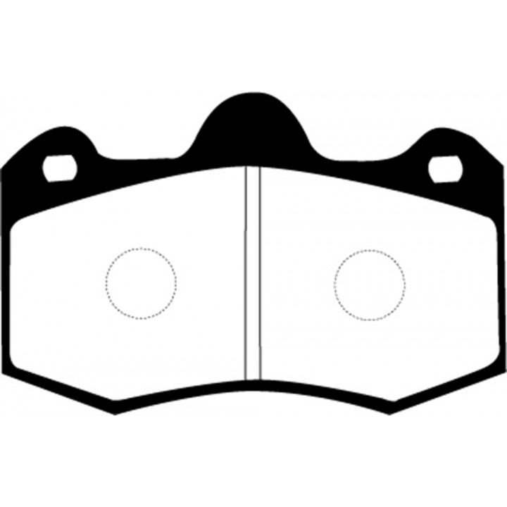EBC Brakes DP4036R - Yellowstuff Street and Track and Truck Upgrade Brake Pads