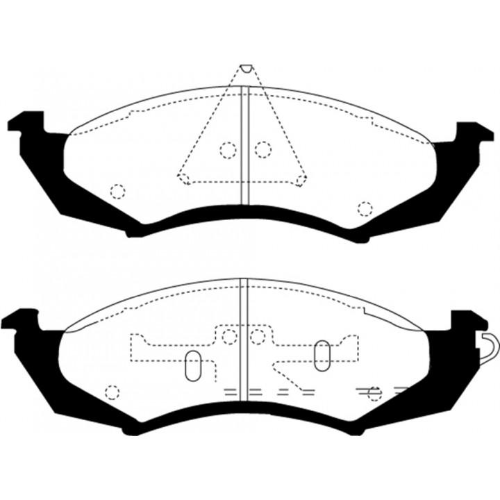 EBC Brakes DP21180 - EBC Greenstuff 2000 Series Sport Brake Pads