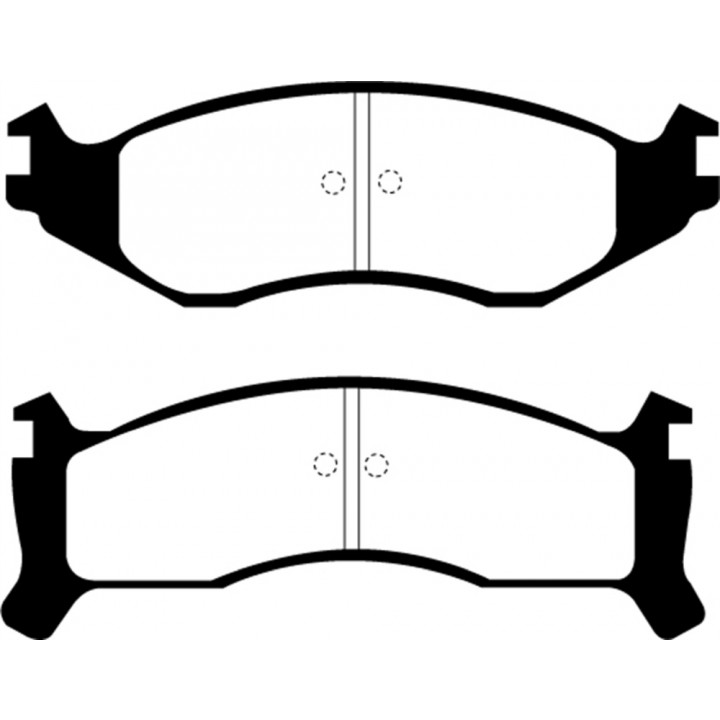 EBC Brakes DP31249C - EBC Redstuff Ceramic LOW DUST Brake Pads