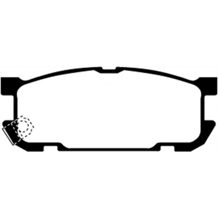 EBC Brakes UD891 - EBC Ultimax OEM Replacement Brake pads