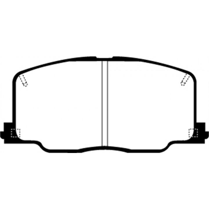 EBC Brakes UD356 - EBC Ultimax OEM Replacement Brake pads