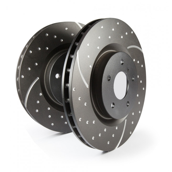 EBC Brakes GD7590 - EBC 3GD Series Dimpled and slotted sport rotors