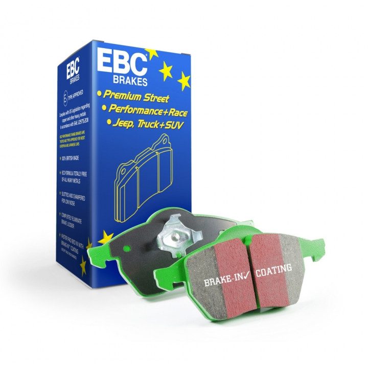 EBC Brakes DP7807 - EBC 7000 Series Greenstuff SUV Supreme Compound