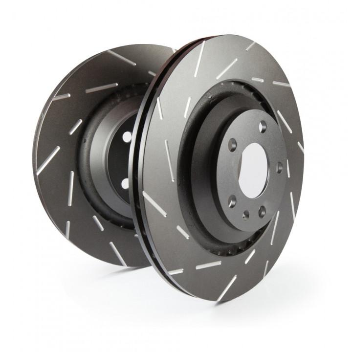 EBC Brakes USR1209 - EBC USR Series sport slotted rotors