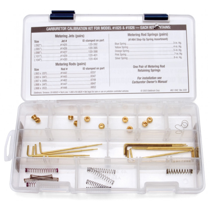 Edelbrock 1842 - Thunder Series AVS Carburetor Calibration Kits