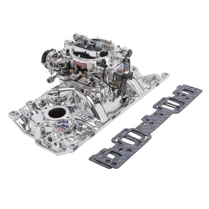 Edelbrock 20274 - Performer Intake Manifold and Carburetor Kits