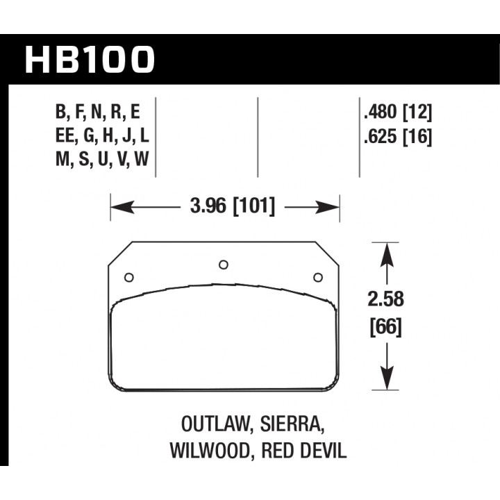 Hawk Performance HB100F.480 HPS Brake Pads