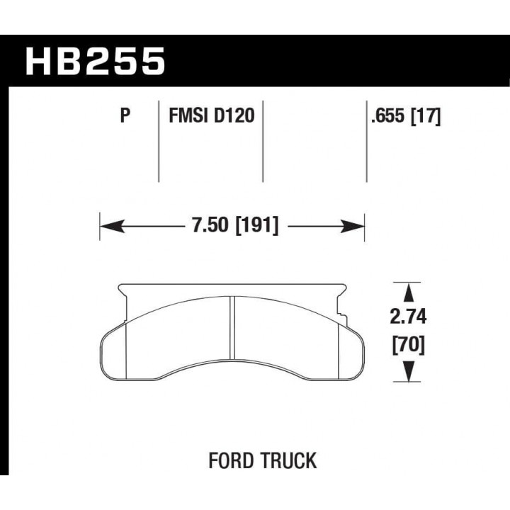 Hawk Performance HB255P.655 Disc Brake Pad SuperDuty w/0.655 Thickness Front