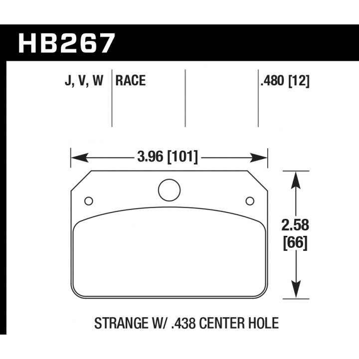 Hawk Performance HB267W.480 Disc Brake Pad DTC-30 w/0.480 Thickness Front or Rear