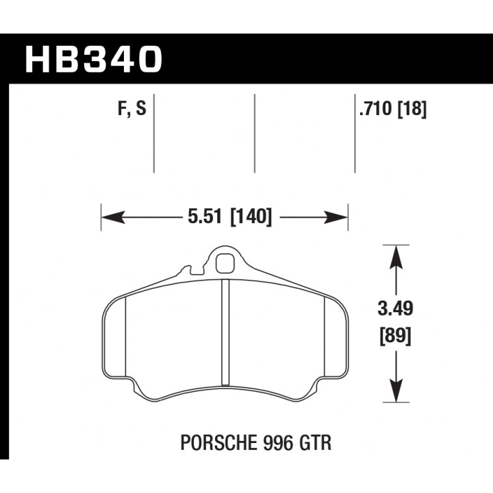 Hawk Performance HB340F.710 Disc Brake Pad HPS Performance Street w/0.710 Thickness Front or Rear
