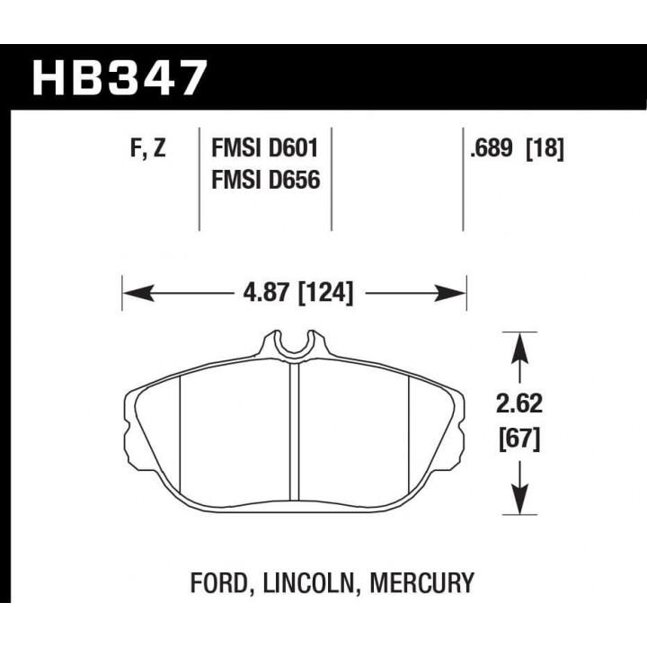 Hawk Performance HB347Z.689 Disc Brake Pad Performance Ceramic w/0.689 Thickness Front