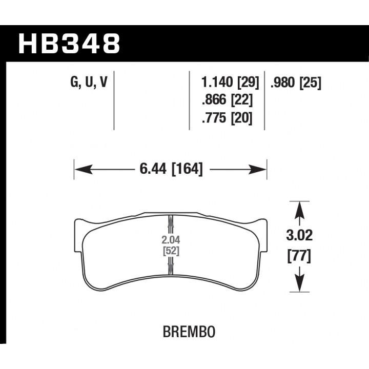 Hawk Performance HB348U.775 Disc Brake Pad DTC-70 w/0.775 Thickness Front or Rear