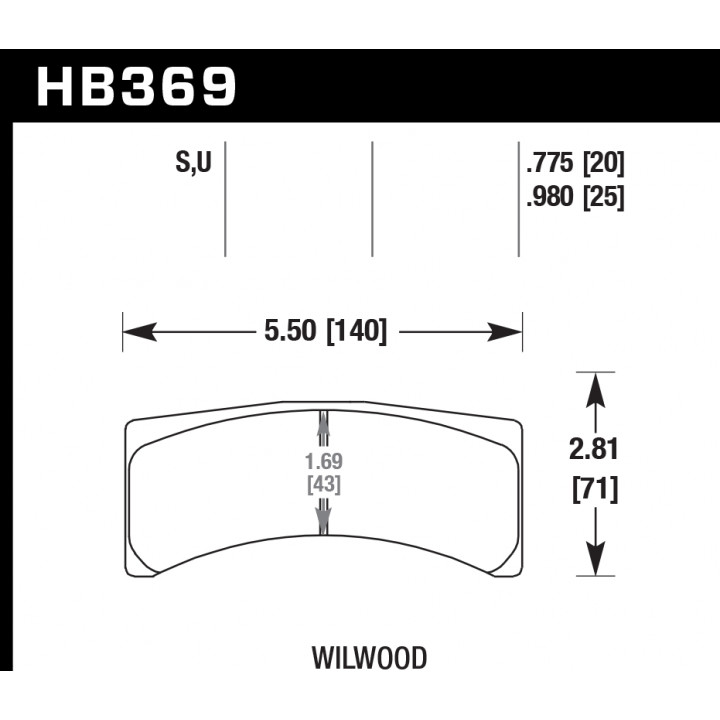 Hawk Performance HB369S.775 Disc Brake Pad HT-10 w/0.775 Thickness Front or Rear
