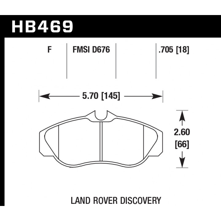 Hawk Performance HB469F.705 Disc Brake Pad HPS Performance Street w/0.705 Thickness Front