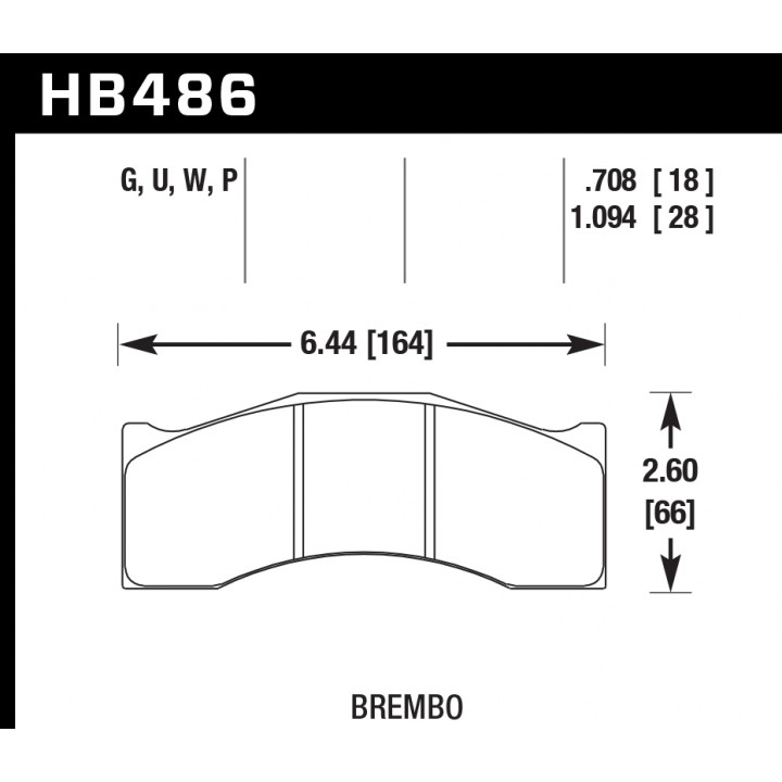 Hawk Performance HB486G1.094 Disc Brake Pad DTC-60 w/1.094 Thickness Front or Rear