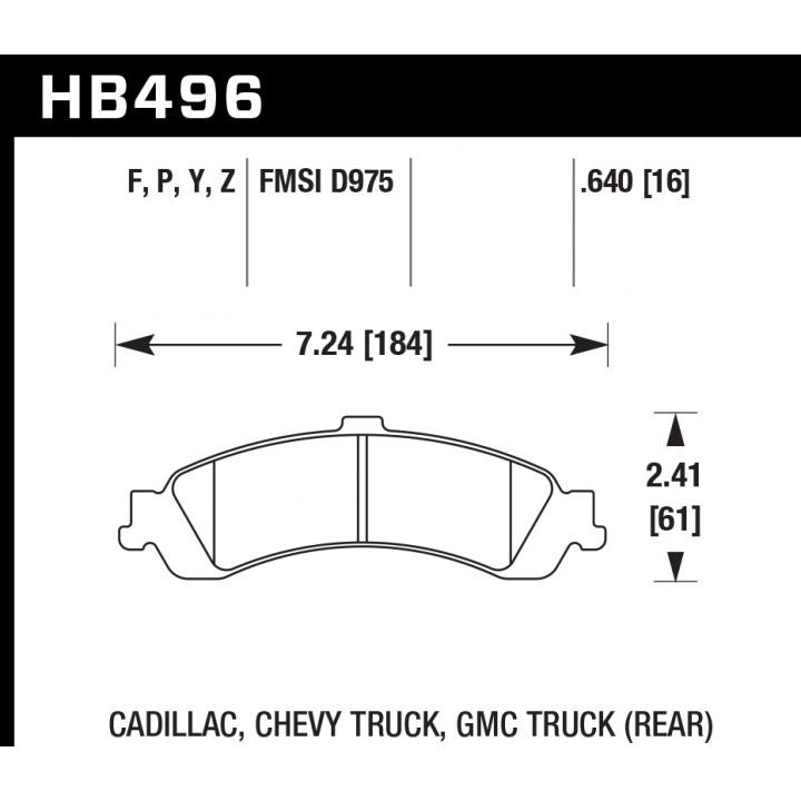 Hawk Performance HB496Z.640 Disc Brake Pad Performance Ceramic w/0.640 Thickness Rear