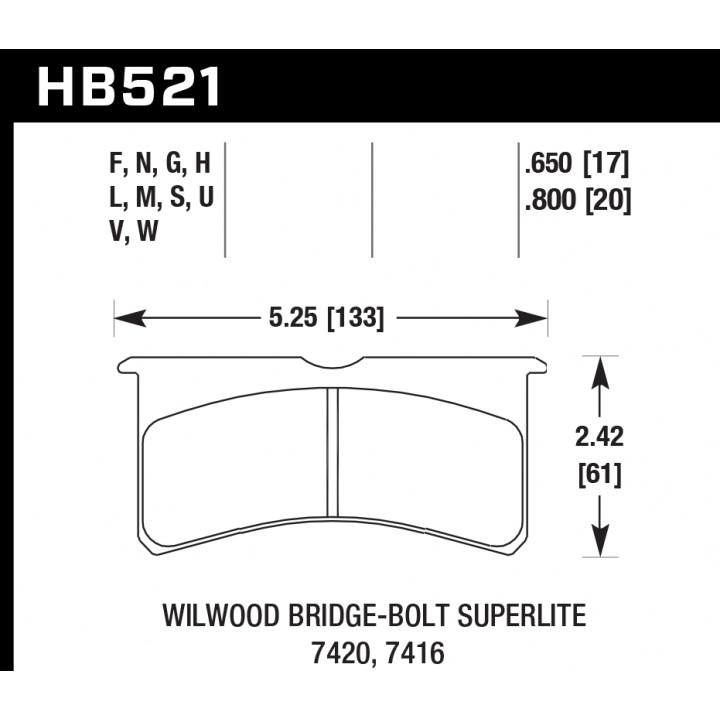 Hawk Performance HB521N.800 HB Brake Pads