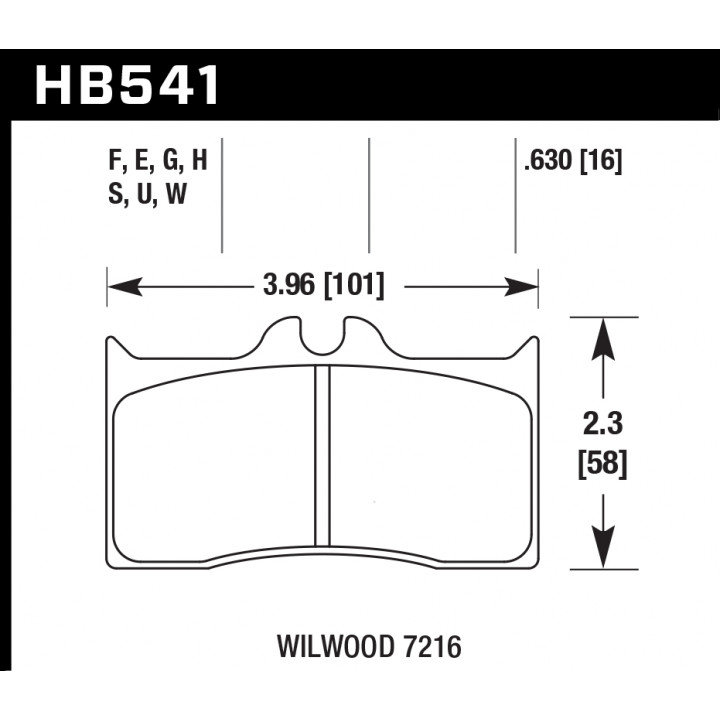 Hawk Performance HB541E.630 Disc Brake Pad Blue 9012 w/0.630 Thickness Front or Rear