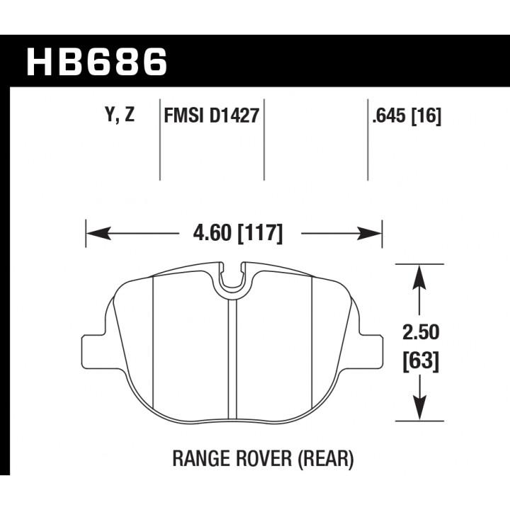 Hawk Performance HB686Z.645 Ceramic Brake Pads