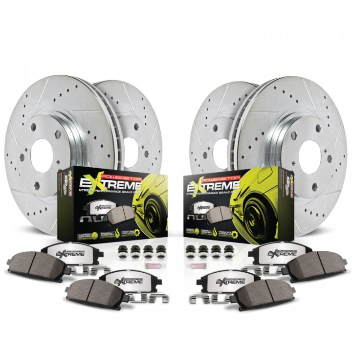 Power Stop Brakes >> Power Stop K5730 26 Z26 Extreme Street Warrior 1 Click Brake Kit Front And Rear