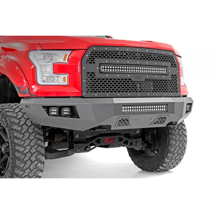 Rough Country 10770 - Heavy-Duty Front LED Bumper