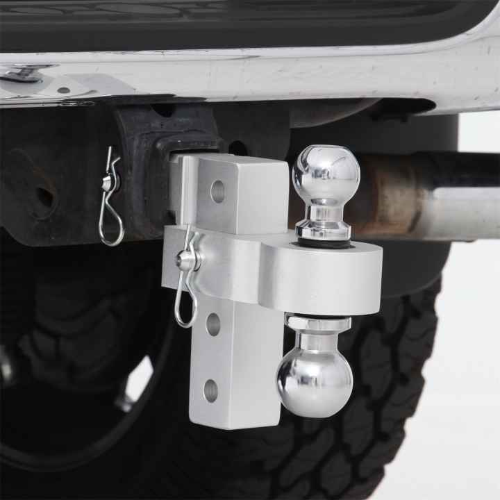 "Smittybilt 2926 - 6 "" Adj Aluminum Drop Hitch - 2 & 2-5/16 In Ball 6K Gtw"