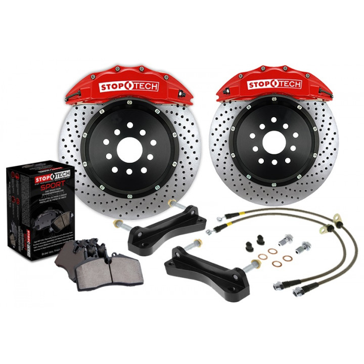 StopTech 83.187.6D00.71 - BBK 2pc Rotor, Front