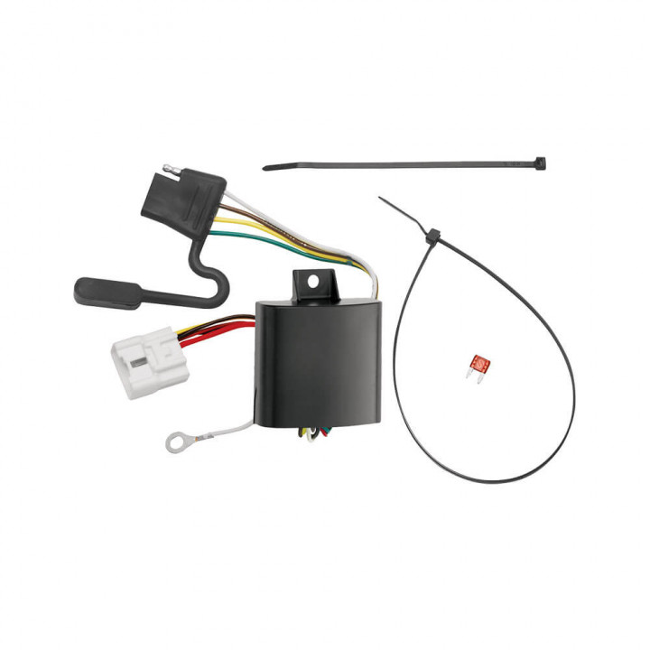 tow ready 118248 replacement oem tow package wiring harness (4 flat) w circuit protected modulite module  tow ready wiring harness #11