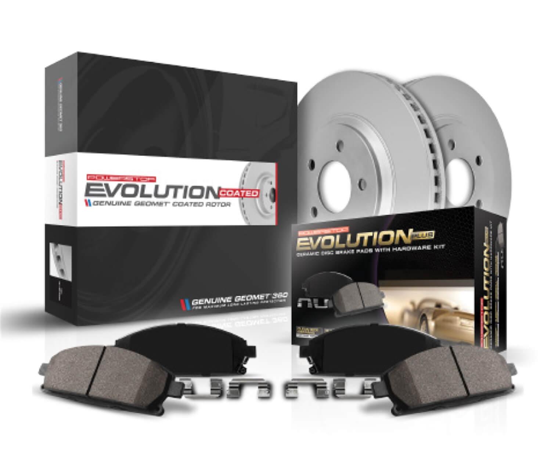 Power Stop CRK5377 front Z17 Evolution Geomet Coated Brake Kit