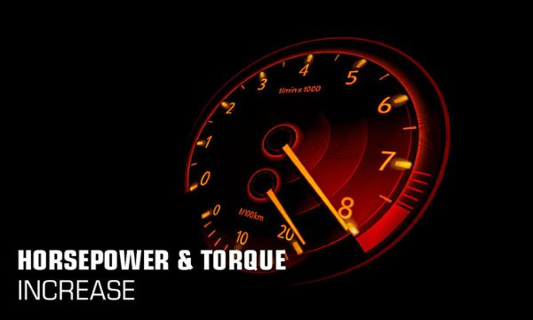 horsepower and torque increase